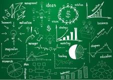 De vector grafiek en de diagrammen van infographicselementen Royalty-vrije Stock Foto