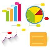 De vector grafische informatie van het grafiekontwerp Royalty-vrije Stock Fotografie