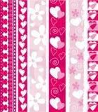 De vector grens van de Valentijnskaart Stock Afbeeldingen