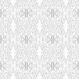 De vector grijze uitstekende klassieke stijl van het lijnen naadloze patroon Stock Afbeeldingen