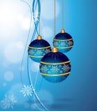 De vector Hangende Ballen van Kerstmis Stock Afbeelding