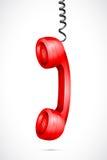 De vector Hangende Ontvanger van de Telefoon Stock Illustratie