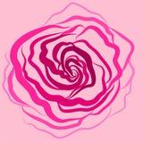 De vector, illustratie, achtergrond, nam sterke drank, bloem, roze, roze achtergrond, liefde, tederheid toe vector illustratie