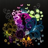 De vector illustratie van de fantasiebloem Stock Afbeeldingen