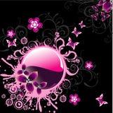 De vector illustratie van de fantasiebloem Stock Foto's
