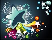 De vector illustratie van de fantasiebloem Stock Foto