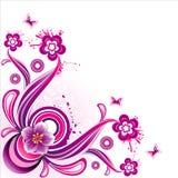 De vector illustratie van de fantasiebloem Royalty-vrije Stock Afbeeldingen