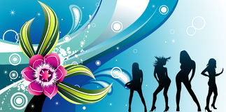 De vector illustratie van de kleurenbloem Royalty-vrije Stock Afbeelding