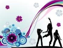 De vector illustratie van de kleurenbloem Stock Afbeeldingen