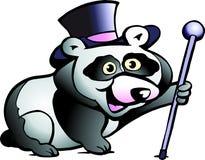 De vector illustratie van een Panda draagt Stock Afbeeldingen