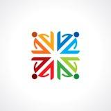 De vector illustratie van het samenhorigheidsconcept Stock Afbeeldingen