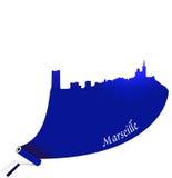 De vector illustratie van Marseille Stock Afbeeldingen