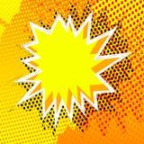 De vector illustreerde grappige de explosiesachtergrond van de boekstijl vector illustratie