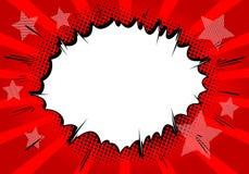 De vector illustreerde grappige de explosiesachtergrond van de boekstijl stock illustratie