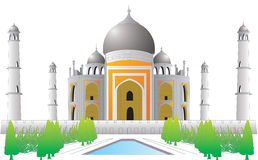 De vector Indische historische plaats van Tajmahal Stock Afbeelding