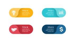 De vector infographic cirkelpijlen, cyclusdiagram, etiketteert grafiek, de grafiek van de stickerspresentatie Bedrijfsconcept met Royalty-vrije Stock Foto