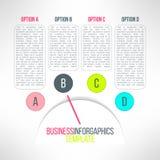 De vector infographic elementen van bedrijfsprocesstappen Royalty-vrije Stock Foto's