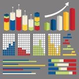 De vector infographic elementen van de grafiekgrafiek Royalty-vrije Stock Afbeelding