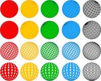 De vector inzameling van de discobal Stock Afbeelding