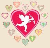 De vector kaart van de Valentijnskaart royalty-vrije illustratie