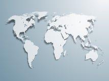 De vector Kaart van de Wereld Stock Foto