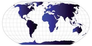 De vector Kaart van de Wereld Stock Afbeeldingen