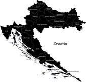 De vector kaart van Kroatië vector illustratie