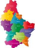 De vector kaart van Luxemburg Stock Afbeelding