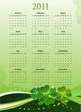 De vector kalender van 2011 voor St. Patricks Dag Stock Foto's