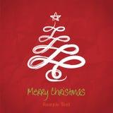 De vector Kerstboom van de handtekening Stock Afbeeldingen