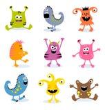De vector kleine monsters plaatsen 3 Stock Fotografie