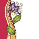 De vector kleurde Bloemenachtergrond Stock Foto's