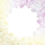 De vector kleurde Bloemenachtergrond Stock Afbeelding