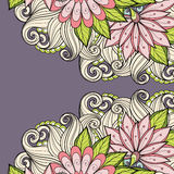 De vector kleurde Bloemenachtergrond Royalty-vrije Stock Afbeeldingen