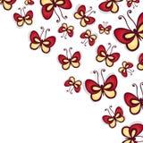De vector kleurde Bloemenachtergrond Royalty-vrije Stock Foto