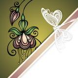 De vector kleurde Bloemenachtergrond Royalty-vrije Stock Afbeelding