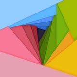 De vector kleurde document ligt op elkaar. Royalty-vrije Stock Foto