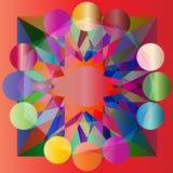 De vector kleurde geometrische abstracte achtergrond Stock Afbeelding
