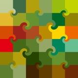 De vector kleurde het patroon van wervelingsvierkanten Royalty-vrije Stock Afbeeldingen