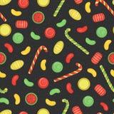 De vector kleurde naadloos patroon van snoepjes vector illustratie
