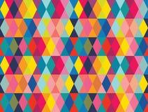 De vector kleurrijke geometrische achtergrond van het vormen naadloze patroon stock illustratie