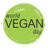 De vector kleurrijke illustratie van de veganistdag Stock Afbeelding