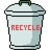 De vector kringloopbak van de pixelkunst royalty-vrije illustratie