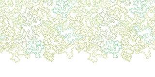 De vector krullende krabbel geeft horizontale grens gestalte Stock Foto