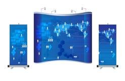 De vector lege handel toont cabine Royalty-vrije Stock Foto
