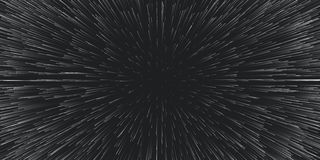 De vector lightspeed reisachtergrond Centric motie van sterslepen Licht van melkwegen onder vaag in stralen of lijnen vector illustratie