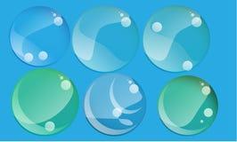De vector moderne abstracte achtergrond van schuimzeepbels Royalty-vrije Stock Foto