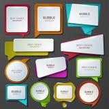 De vector moderne geplaatste pictogrammen van de bellentoespraak Stock Foto's