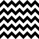 De vector moderne naadloze chevron van het meetkundepatroon, zwart-witte samenvatting Stock Afbeelding