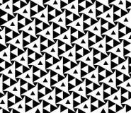De vector moderne naadloze driehoeken van het meetkundepatroon, zwart-witte samenvatting Royalty-vrije Stock Afbeeldingen